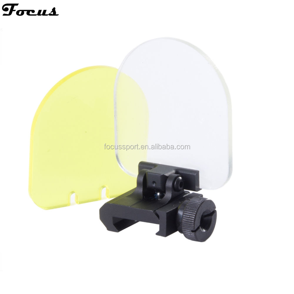 Foldable Airsoft Sight Scope Lens Screen Protector with Cover Shield Rail Mount Rail Mount Outdoor