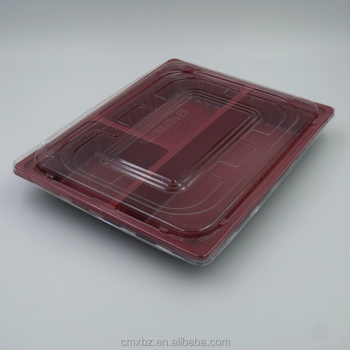 Bulk wholesale disposable divided plastic food tray with dividers