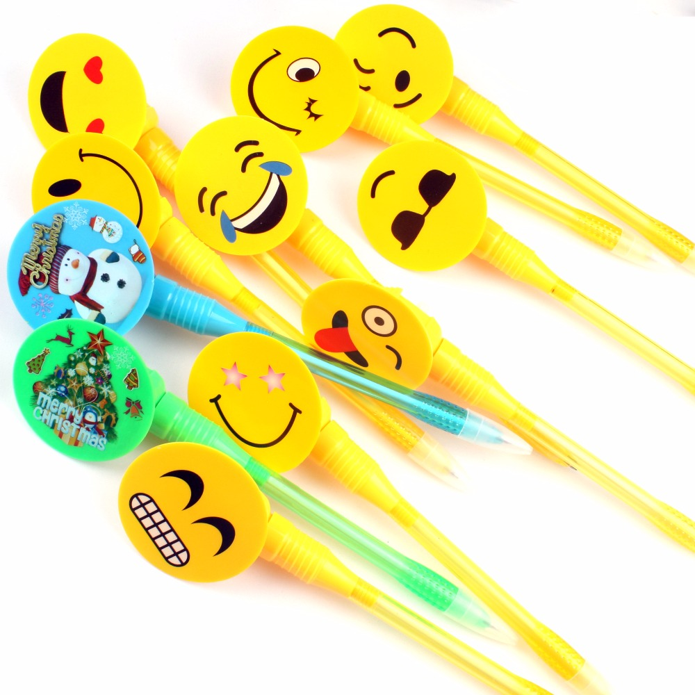 Huahao brand Christmas Latest Design Fancy Children Plush Emoji Toy Promotional Ballpoint Pen