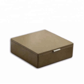 Factory custom wholesale luxury leather tea gift box