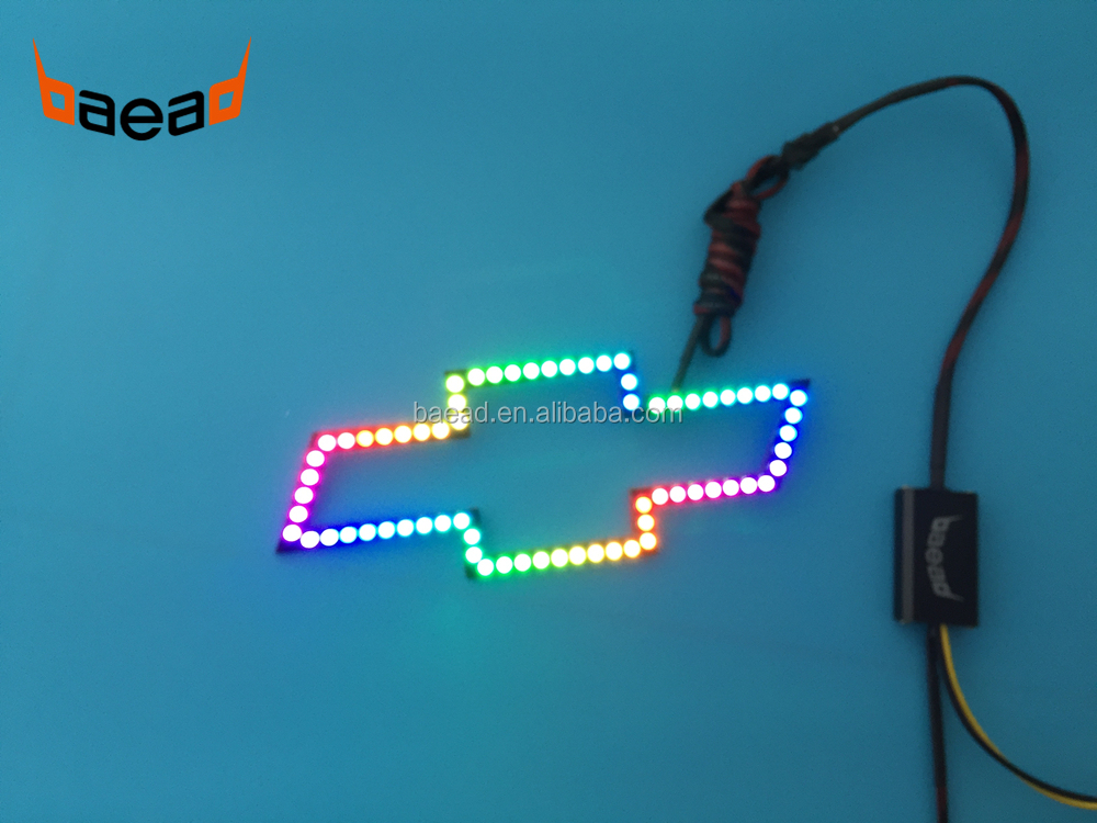 Ups Package Delivery Driver Pay >> Baead Waterproof Emblem Logo Light Led Chasing Color Halo ...