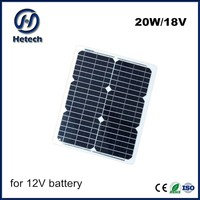 professional manufacturer in producing 20w 12v flexible solar panel battery charger