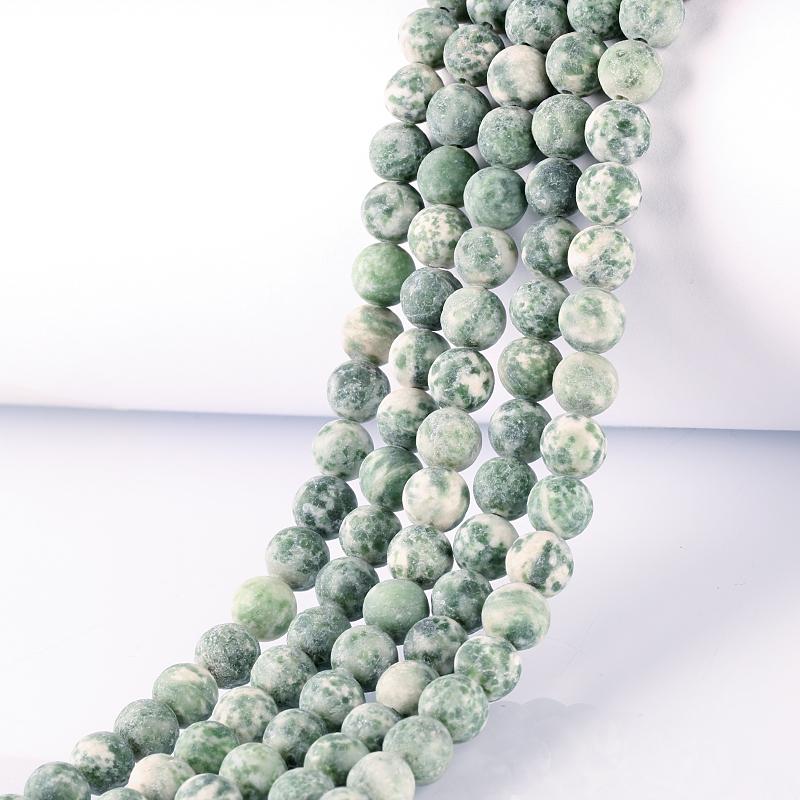 Matte Hydrogrossular Perle Tonde, 6/8/10mm Branelli Della Pietra Preziosa