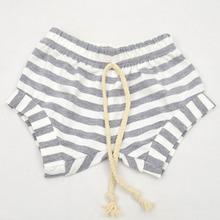 2016 Summer Baby shorts PP Hanging Crotch Short Newborn Baby Infant Clothing Striped Shorts Kids Harem