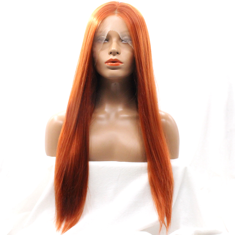 350 Synthetic Hair Wigs Straight Lace Front Wig Natural Hairline