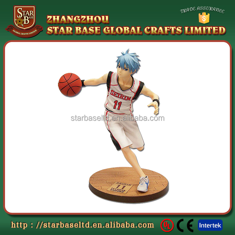 Resin material custom Japanese anime basketball bobblehead
