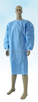 OEM cheap disposable non-woven colored blue hospital gown plus size