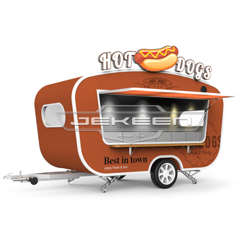 3.87m customized food truck with bbq grill