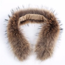 Wholesale real fur hood trim / detachable raccoon fur collar