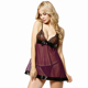 Factory price lace cups sxi girls babydoll sexy transparent nightwear