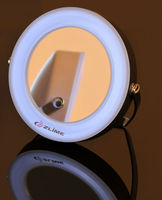 Mini pocket lighted makeup mirror
