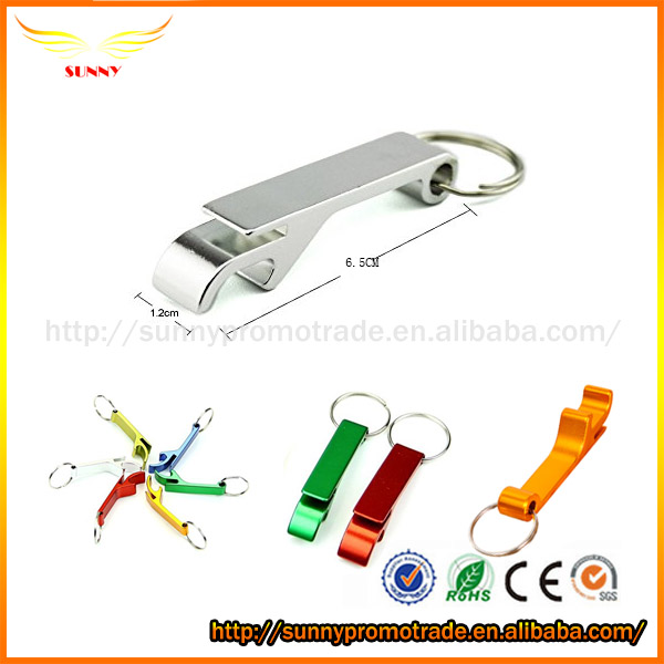 Multifunctional Aluminium Alloy Keychain Bottle Opener,Silver and more color