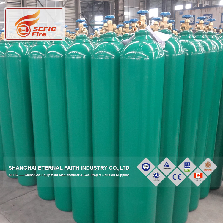 Good Reputation Professional Manufacturer Supplier 40L Sell Oxygen Gas Cylinder