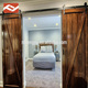 double panel slab barn door with sliding door hardware