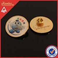 National world expo zinc alloy pin badge provider