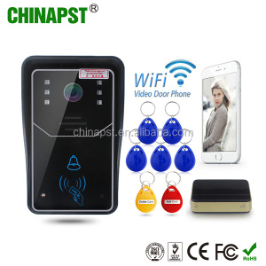1.0MP H.264 smart IP video doorbell/WiFi doorbell with MicroSD fully Duplex Intercom,IR CUT PST-WIFI001ID