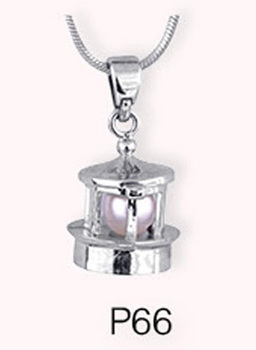 interesting fish silver plated pearl locket necklace pendant