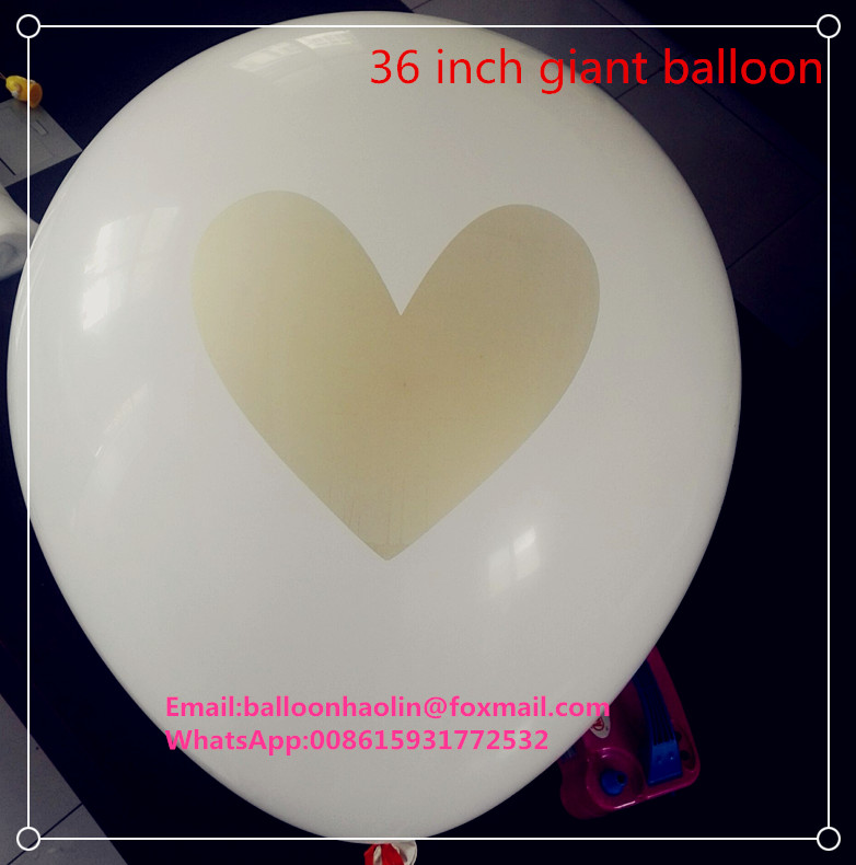 "hot selling 36"" white color big giant latex balloon/baloons/ballons"