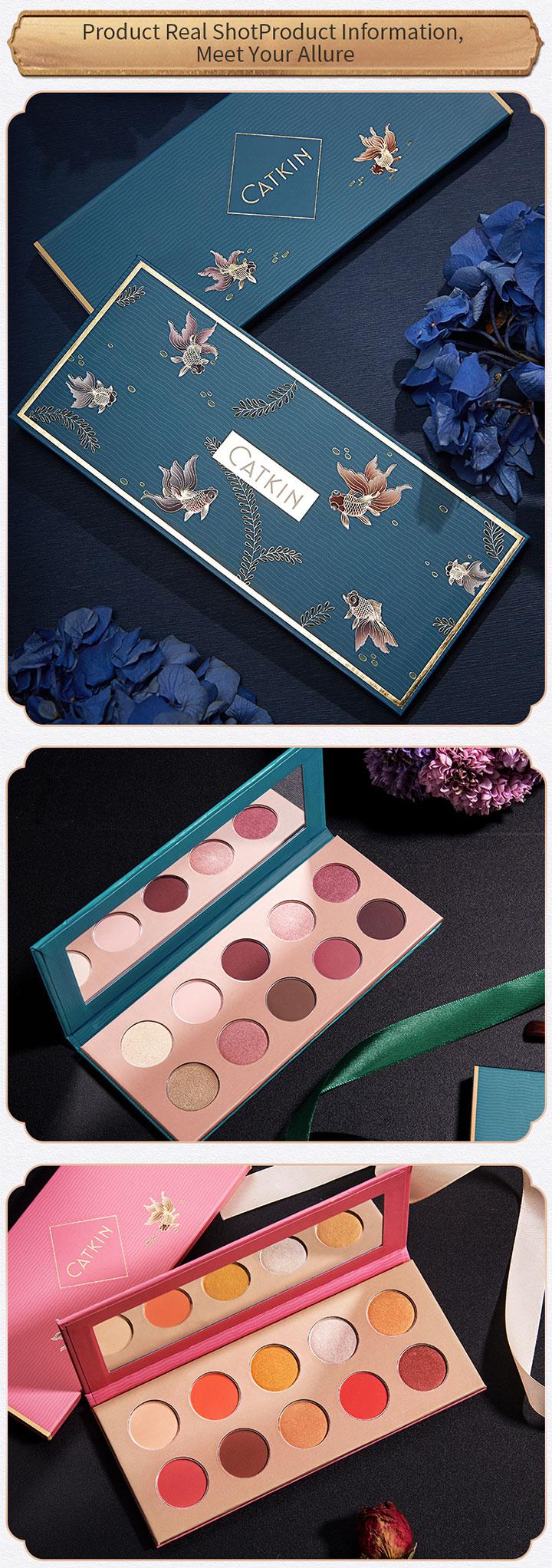 CATKIN Eternal Love Series Allure 10 Colors Makeup Waterproof Easy to Wear Smooth Eyeshadow Palette