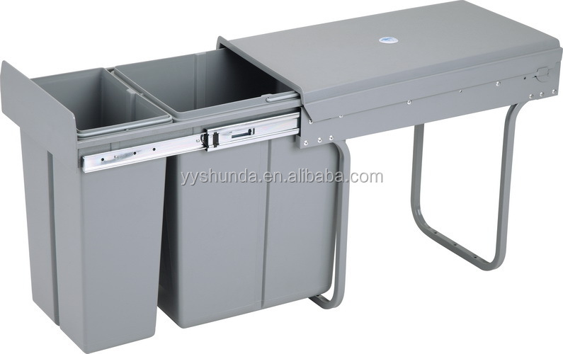 Under Sink Trash Bin Plastic Trash Bin Waste Bin Pull Outs