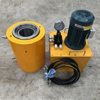 350ton 400ton 450ton 500ton 600ton post tension steel strand prestressing hollow hydraulic jack cylinder