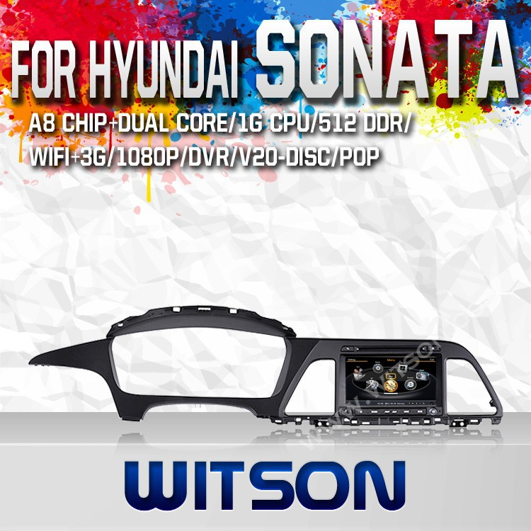 WITSON FOR HYANDAI SONATA 2014 GPS NAVIGATION WITH RAM 8GB FLASH BLUETOOTH STEERING WHEEL SUPPORT