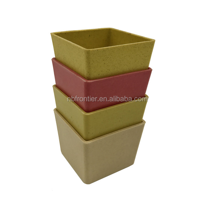China Manufactured Home Decoration Natural Cheap Bamboo Fiber Flower Pots