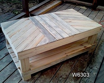 Rectangular Coffee Table Pine Wood Wooden Export Products Made In Vietnam