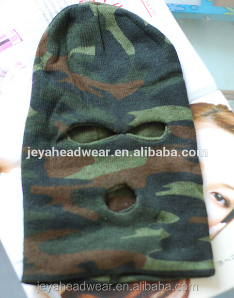 Custom China made high quality thin soft comfortable camo color motorcyle ski full face protective balaclava face mask