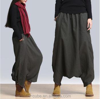 Popular New 2015 Casual Autumn Winter Harem Pants For Women Loose Women Plus