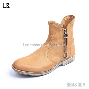 details for cost charm factory authentic old lady ankle boots handmade new arrival vintage flat martin half boots  cheap cowboy boots for women