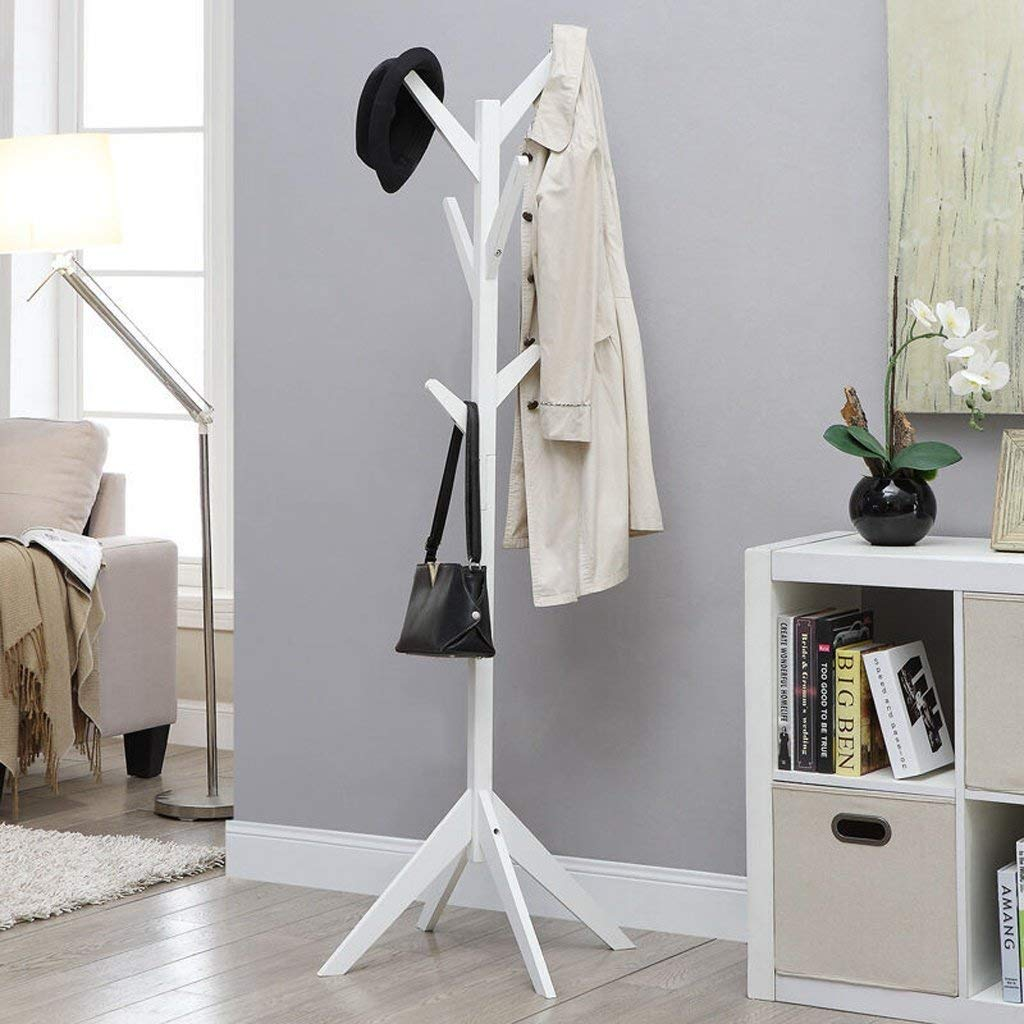 Get Quotations · COAT RACK Solid Wood Floor Modern Minimalist Hanger Bedroom  Living Room Clothes Rack Tree Shaped Household