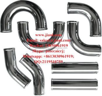 "Universal 8Pcs 2.75""Aluminum Front Mount Intercooler Piping Silicone Hose"