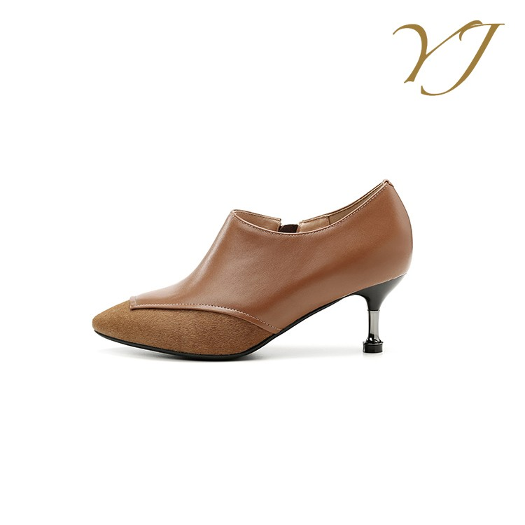 women and dress high genuine shoes pumps leather platform low ladies heel heel sexy low mid Popular shoes heels high fashion OTxdXqOZ