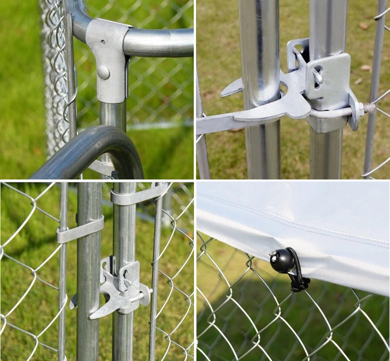 1.5mW of galvanized chain link dog kennels