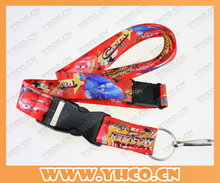 colorful sublimation lanyard with breakaway and safety buckle