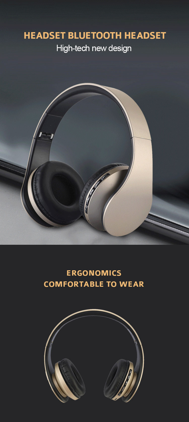 Wired Gaming Headset 7.1 Ear Phone Glowing Earphone Gold Earbuds