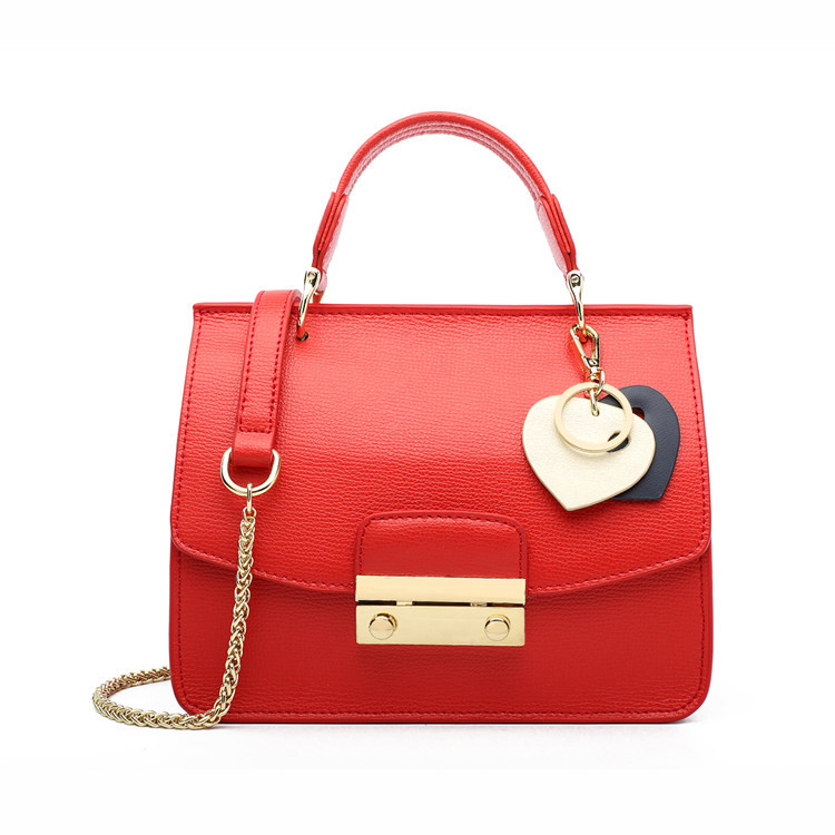 2019 New Fashion Items Online Shopping Red Leather Shoulder Handbags Tote Bags for Women