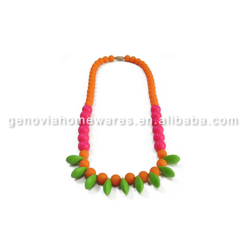 FDA&LFGB approved sensory baby chewing necklace with great price