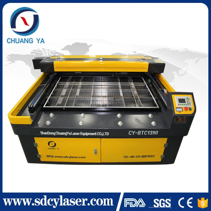 new design chuangya 150w Yongli tube enhanced 1390 co2 laser cutting machine for thick acrylic prevent fire