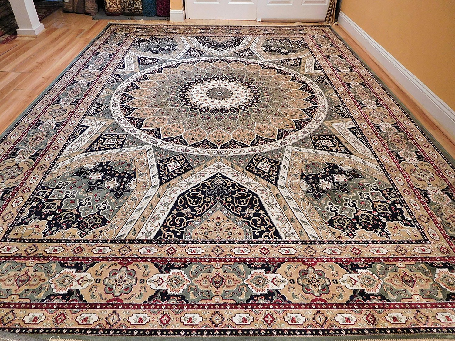 Buy Stunning Silk Rug Persian Traditional Area Rugs Round