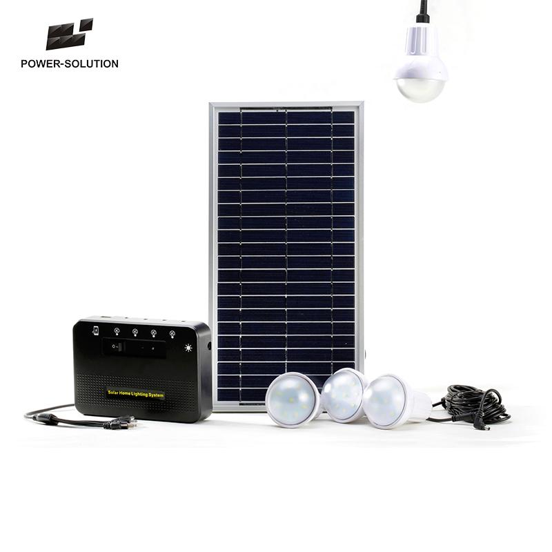 Portable 8w Solar Panel Led Light Kits Mini Home System For Use