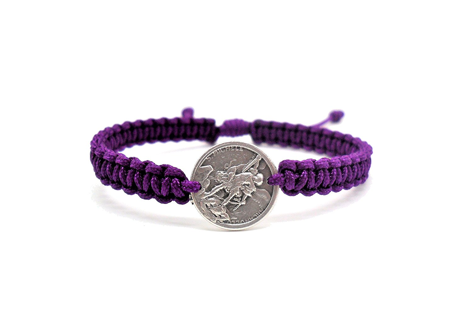 Benedict Gifts Catholic Angel Michael, Guardian Angel Michael Blessing Bracelet, Archangel on Purple Cord, Catholic Bracelet, Handmade Bracelet, Holy Bracelet, Faith, Blessing Bracelet, Fashion