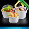 disposable custom ice cream cup with dome lid