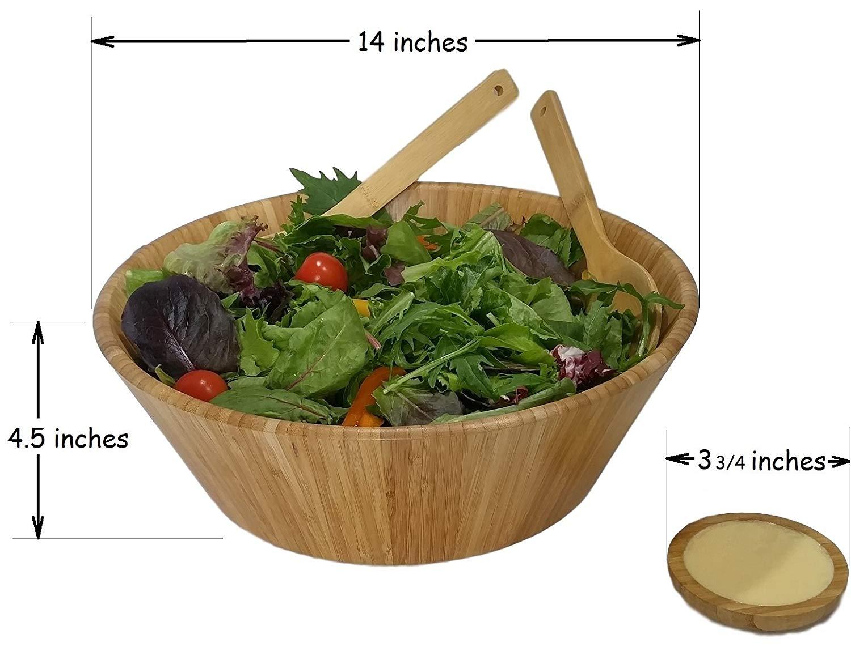 wooden salad bowl EL-18082205 Details 3