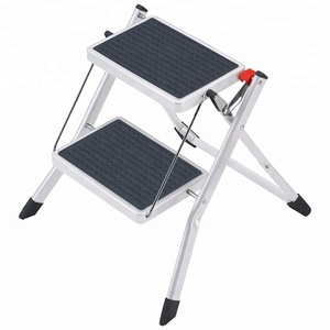2 steps Small Steel Folding Step Stool