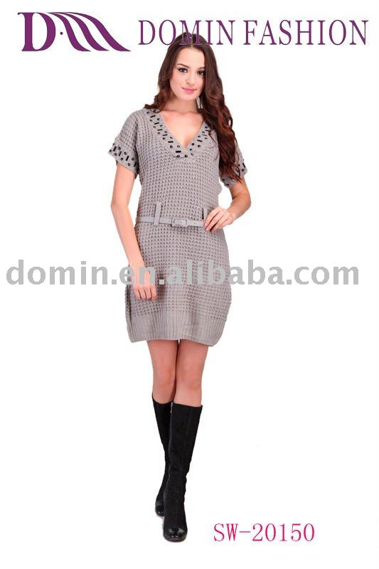 The pretty and charming Ladies'Fashion Sweater Dress