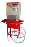 vertical pop corn popper with wheels/ commerical pop corn vending machine