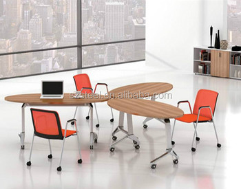 Folding Conference Table Modular Conference Tables Ovalshape - Oval shaped conference table