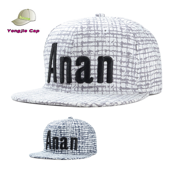 Alta calidad bordado SnapBack 6 paneles de ala plana del casquillo del  sombrero c9214a4f388
